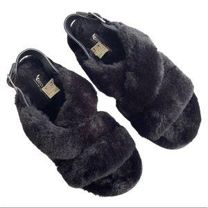 EUC Koolaburra by Ugg fuzzy sandals